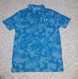 New boys youth large cotton under armour polo